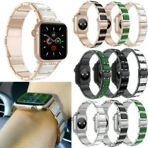 For iWatch Series 1 2 3 4 Crystal  Shining Link Stainless Steel Band Wrist Strap
