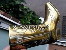 Large vintage brass Cowboy boot weighs 1 kg  8 inches tall lovely condition