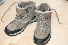 Denali Womens Hiking Walking Boots sz 7 Lace-Up High Tops Beige and Baby Blue