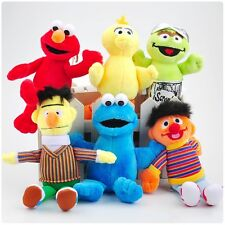 "6PCS Set Sesame Street Plush Toy Soft Doll 5""-7"" Keychain Kids Christmas Gift"