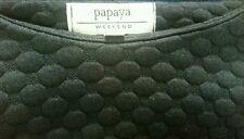 PAPAYA Women's Top Size Small Cropped 3/4 Sleeve Crew Neck Black Top Tee T Shirt