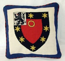 Oxford St John's College Heraldic Needlepoint Cushion Cover Tapestry Handmade