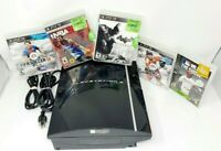 SONY PLAYSTATION 3 PS3 FAT 80GB Console Bundle : 1 NEW Controller + 5 Games