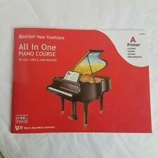 Bastien New Traditions All in One Piano Course A Primer Book Lessons Theory