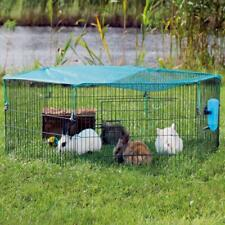 Rabbit Metal Run Playpen Sun Protection Guinea Pig Cage Fun Play Small Pet Puppy