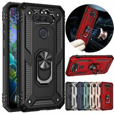 For LG Phoenix 5/Risio 4/Fortune 3/K8X Case Ring Holder Stand Hybrid Phone Cover