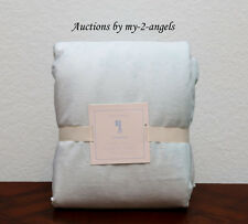 NEW Pottery Barn Kids CHAMOIS Twin Duvet Cover MINT BLUE / AQUA *So Soft & Plush