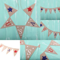 Eg _ Fm- Lin USA Étoiles Triangle Bandeaux Bruant Fête Décoration Tenture