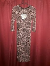 BNWT Club L Bodycon Dress In Brown UK 8