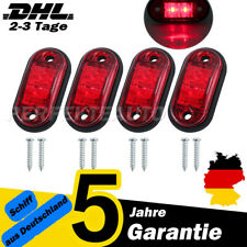 4x Rot LED Begrenzungsleuchte Seitenmarkierungsleuchten Umrissleuchte 12/24V Rot