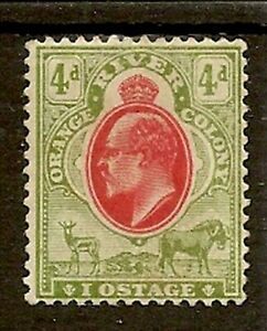 """ORANGE FREE STATE 1907 4d """"IPOSTAGE"""" FOR """"POSTAGE"""" VARIETY SG150a MINT"""