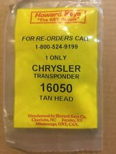 Howard Keys 16050 Chrysler Transponder key- Tan Head