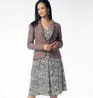 From UK Sewing Pattern Dress Jacket  easy 6-22  #5975