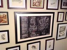 Harley Davidson Knucklehead Motorcycle Blueprint Vintage Poster Sign