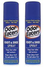 2 x Odor Eaters Foot & Shoe Deodorant Spray 150ml Odour-Free Feet Dry Shoes
