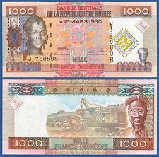 GUINEA 1000 Francs 2010 Commemorative UNC  P. 43