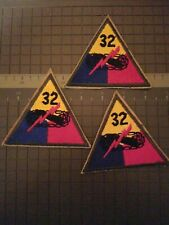 3---32nd  ARMOURED DIVISION 3 NEW SHOULDER PATCHES --COMBINE SHIPPING SAVE $$$$$