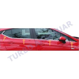 Fit Vauxhall Opel Astra K (2015-2018) Bottom Glass Bar Stainless Steel 8 Pcs.