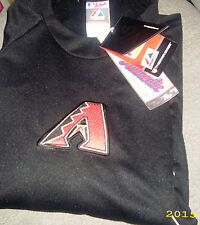 MAJESTIC ARIZONA DIAMONDBACKS THERMABASE TECH FLEECE SWEATSHIRT sz M NEW w TAGS