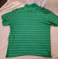Nike Golf Dri-Fit Polo Shirt Mens Size XL Green Short Sleeve Stretch Striped