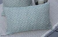 "John Lewis & Partners ""Logan"" Fabric & Cushion Cover 12""x20"" Woven / Green"