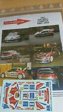DÉCALS 1/18 réf 864 Peugeot 206 Wrc Campos Monte Carlo 2004