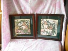 SALE!!  Pair of Nicely Framed and Matted Bunny Prints-So Cute!