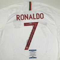 Autographed/Signed CRISTIANO RONALDO Portugal White World Cup Jersey Beckett COA