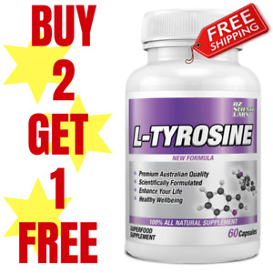 L - Tyrosine - Mood - Stress - Relaxation - Mental Health Buy 2 - Get 1 FREE