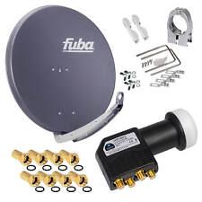 FUBA DAA 850 Alu SAT Antenne Spiegel 85cm Schüssel HD + Premium 4K Quad HB LNB