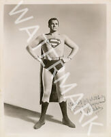 GEORGE REEVES SIGNED 10X8 PHOTO, CLASSIC SUPERMAN IMAGE, LOOKS AWESOME FRAMED
