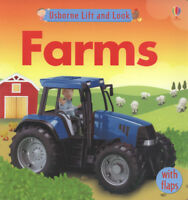 Usborne lift and look: Farms by Felicity Brooks (Hardback) Fast and FREE P & P
