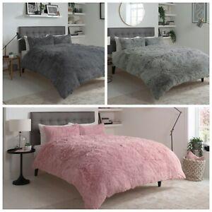 Cuddly Faux Fur Teddy Bear Fleece  Duvet Cover Set Fluffy Warm Cosy Bedding Sets