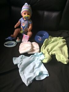 Baby Born Boy Doll Anatomically Correct With Potty/dummy/bottle/food Genuine