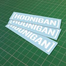 Hoonigan Sticker Decal Vinyl Car JDM Window Drift Funny Low Turbo 150 mm 6''