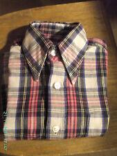 Jungen Kinder Hemd HW ca. 34 cm (Maße beachten) kariert - Vintage - Mängel