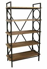 Industrial Style Free Standing Shelving Unit, 5 Shelves