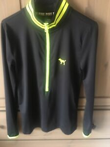 VS PINK Ultimate Long Sleeve Pullover, Sz XS, Black