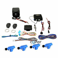 Crimestopper Universal Remote Car Alarm Security w/ 4 Power Door Lock Actuators