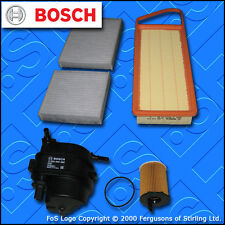 SERVICE KIT for PEUGEOT 207 1.4 HDI BOSCH OIL AIR FUEL CABIN FILTERS (2006-2009)