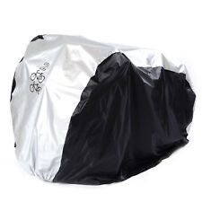 Size S Efficient 180t Polyester Taffeta Waterproof Bicycle Scooter Rain Dust Protector Snow Sun Cover silver+black