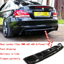 New Carbon Rear Bumper Diffuser For BMW E82 E88 2Door Coupe RG Style Sport Model
