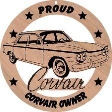Chevrolet Corvair 4dr Sedan Red Alder Wood Ornament Laser Engraved