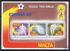 Malta 1982 World Cup Football-Spain MS SG697 MNH