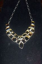 Smoky Quartz Necklace- Awesome, Huge & fashion forward-21in FREE US SHIPPING