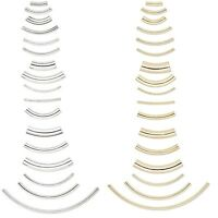 Curved Tube Plated Elbow Noodle Beads In Many Sizes PKG 100