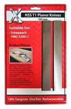 2 Stück 320x18x3mm Hobelmesser Ersatzklingen Ersatzteil für Scheppach HMC3200