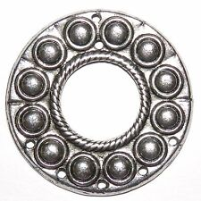 MX7119 Antiqued Silver 50mm Round Link with 7-Holes Metal Alloy Component 20pc
