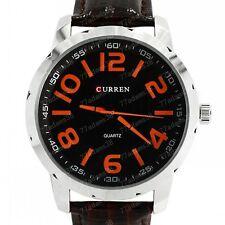 CURREN Quartz Red Indices Men Round Dial Watch