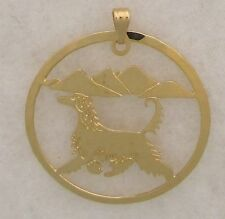 Afghan Hound Jewelry Gold Pendant by Touchstone Dog Designs